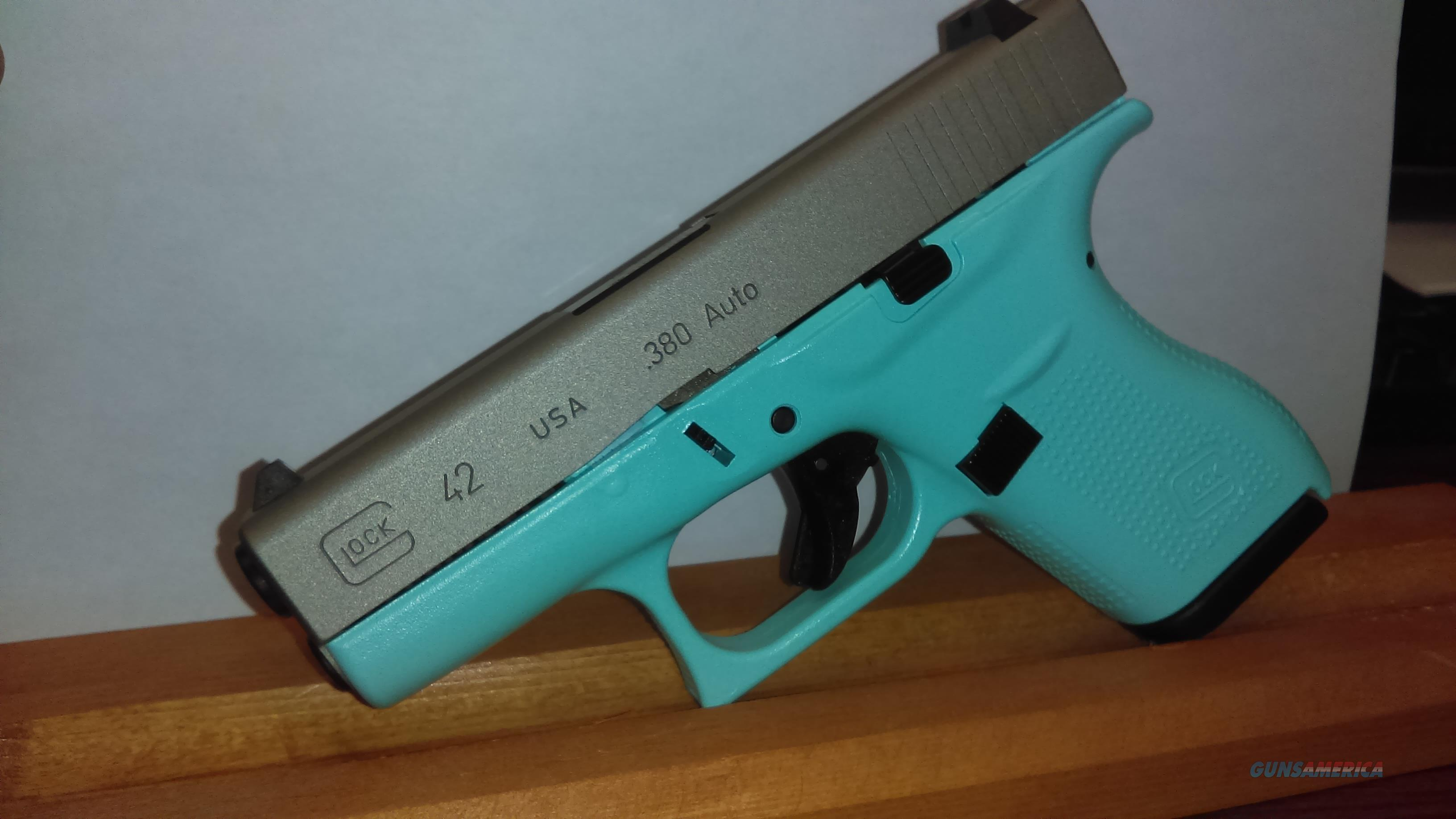 Glock 42 Blue with stainless slide   Guns > Pistols > Glock Pistols > 42