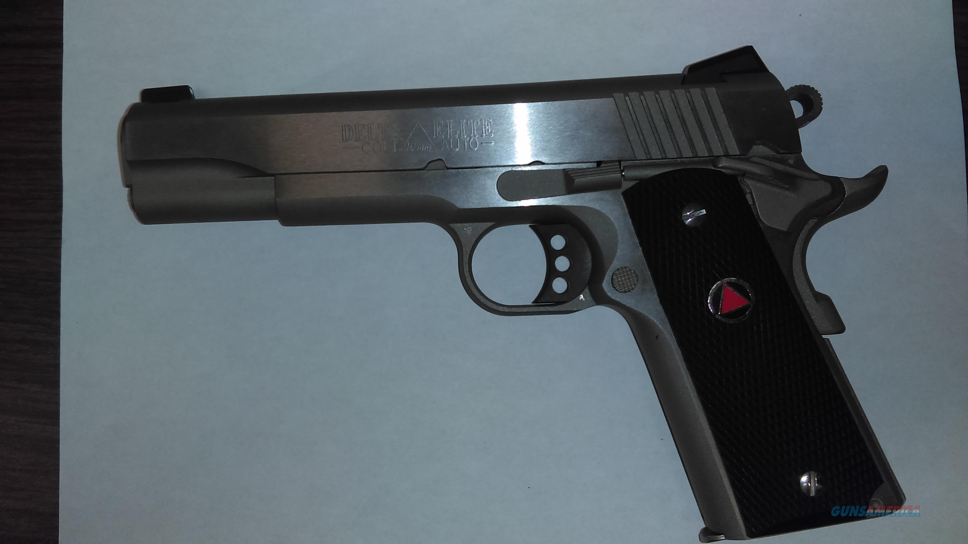 Colt Delta Elite 10mm Stainless  Guns > Pistols > Colt Automatic Pistols (1911 & Var)