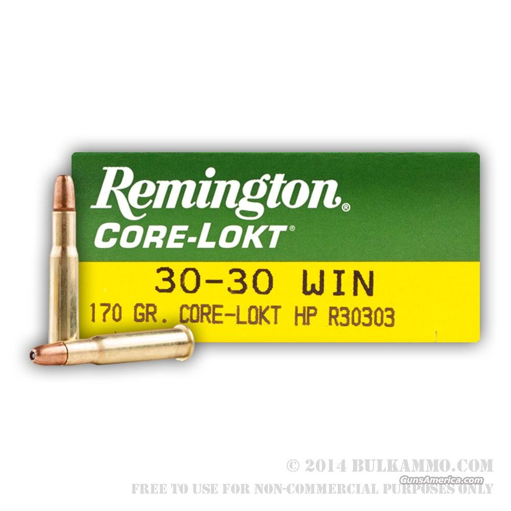30-30 Win Remington Core-Lokt 170gr SP  Non-Guns > Ammunition