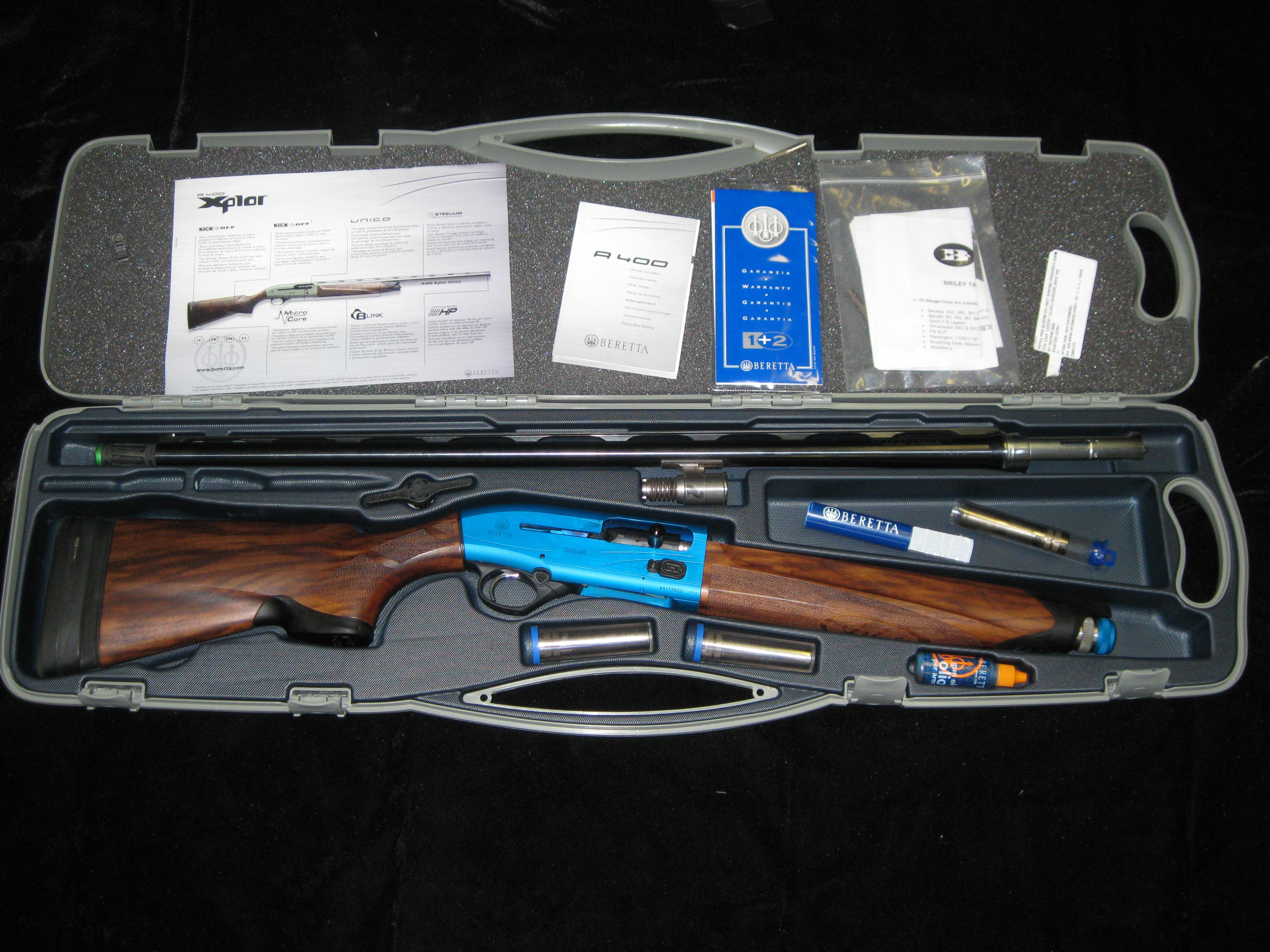 BERETTA A400 XCEL 12 GAUGE 28 INCH W/ KICKOFF STOCK 28 BARREL BRILEY UPGRADE  Guns > Shotguns > Beretta Shotguns > Autoloaders > Trap/Skeet