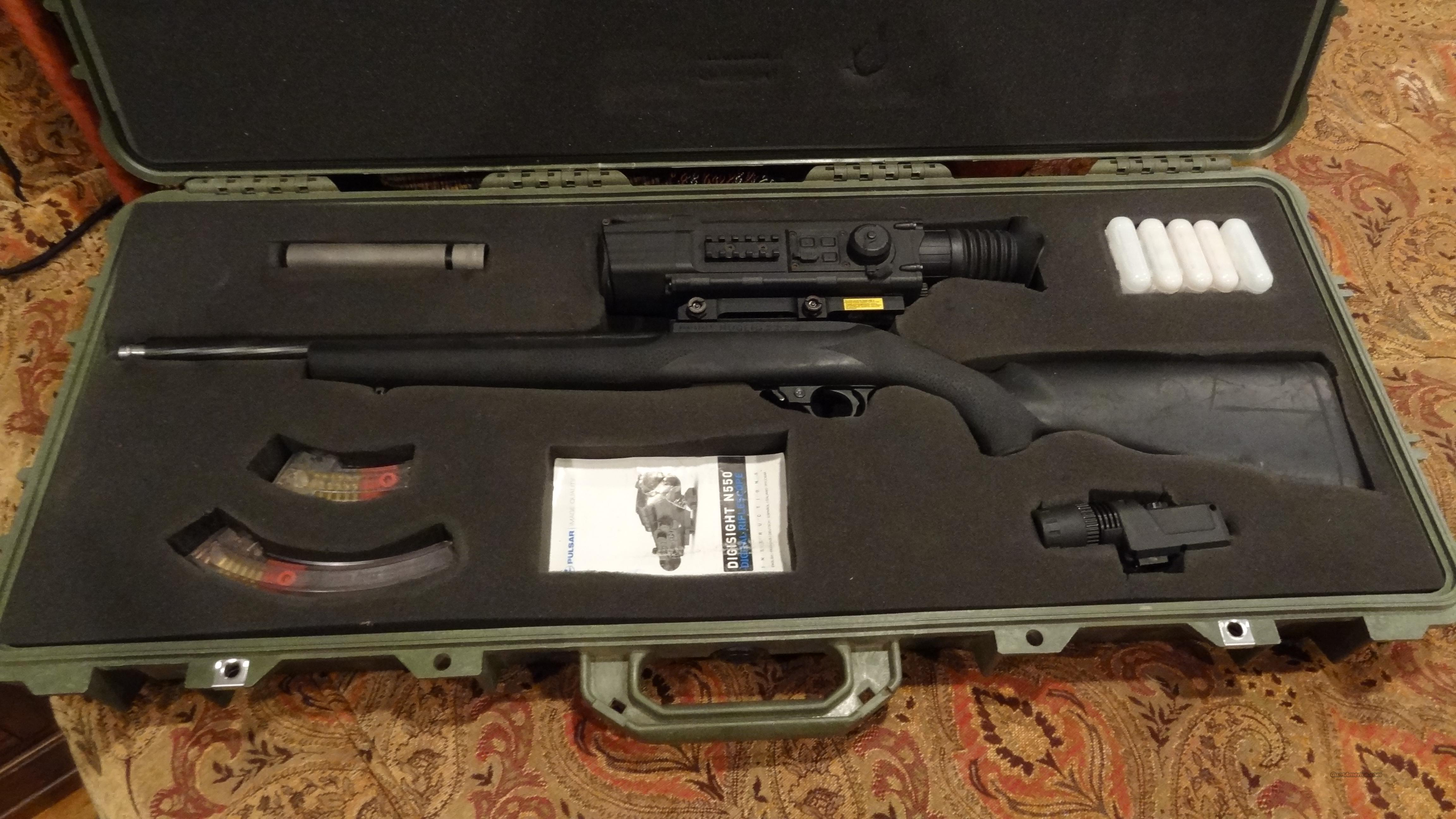 Ruger hammer forged with night vision  Guns > Rifles > Ruger Rifles > 10-22