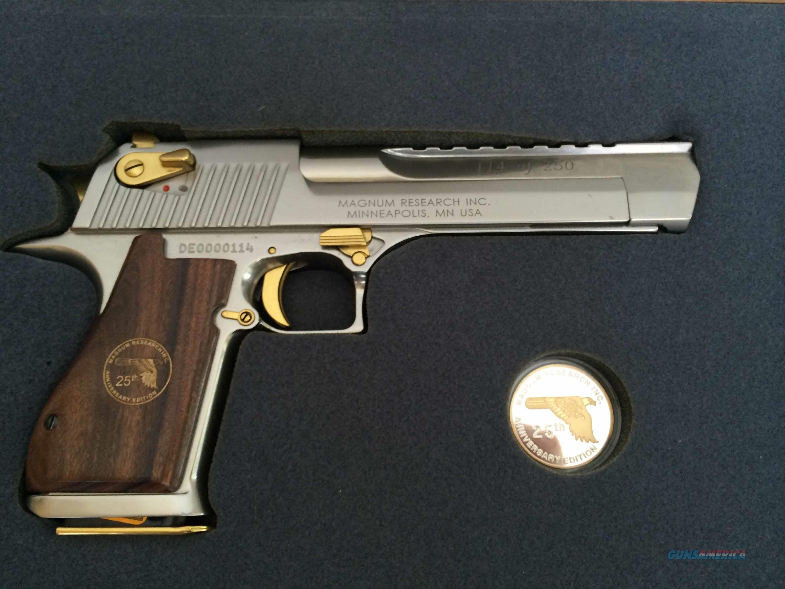 Desert Eagle 25th Anniversary .50 AE With Case! Will Consider All Reasonable Offers!!!  Guns > Pistols > Magnum Research Pistols