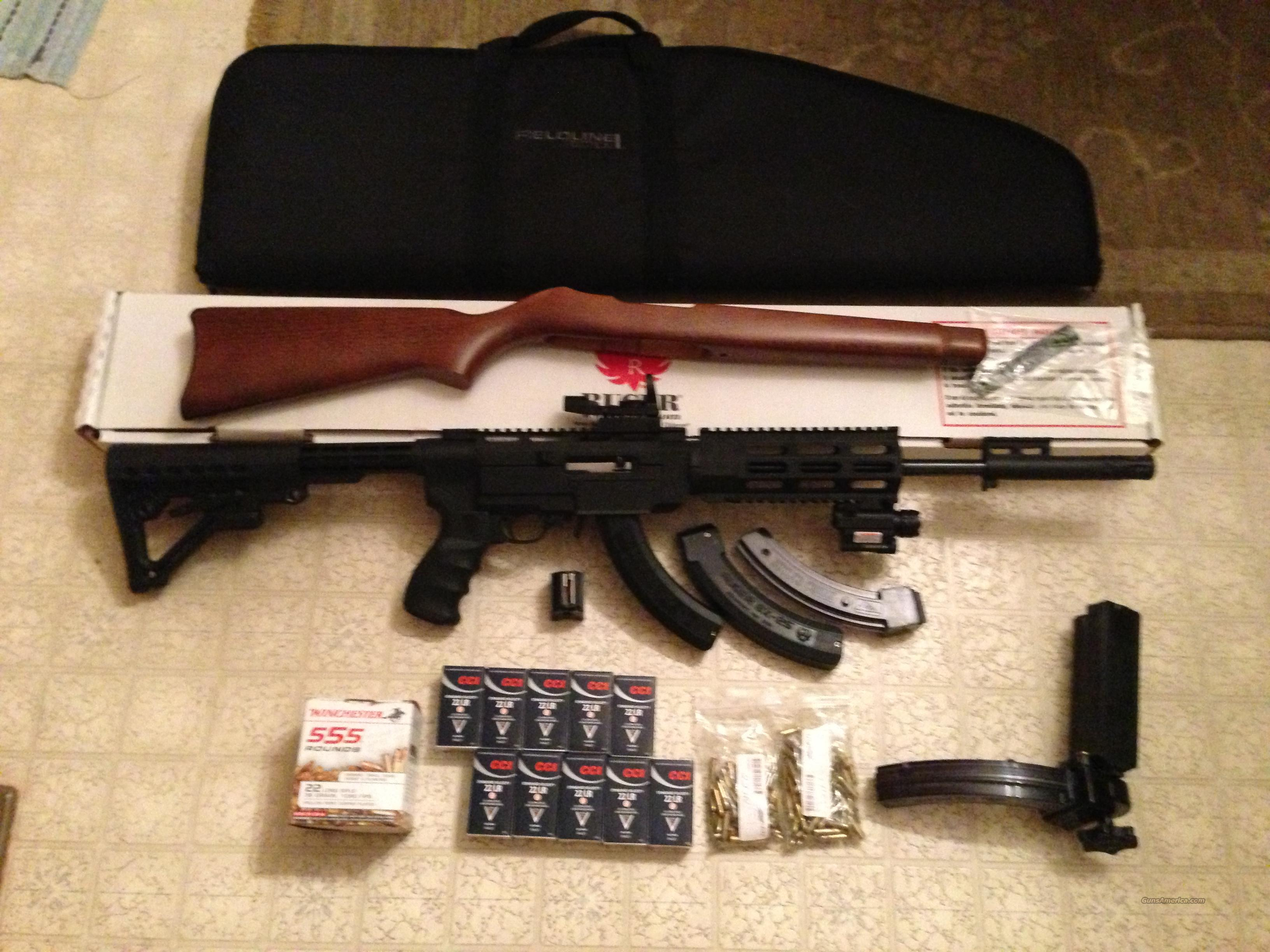 Ruger 10/22 AR Style lots of upgrades  Guns > Rifles > Ruger Rifles > 10-22