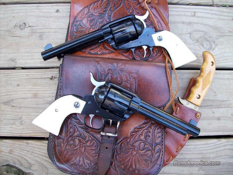 Ruger New Vaquero 45 LC Pair w/Ivory Stocks!  Guns > Pistols > Ruger Single Action Revolvers > Cowboy Action