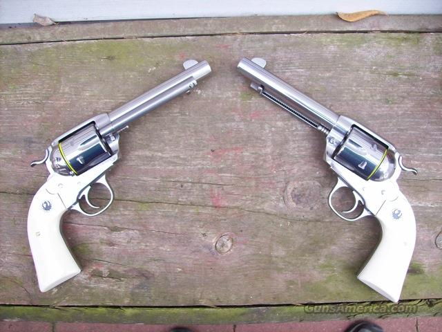 Ruger Bisley Vaquero SS/ivory 357 mag Pair 2009!  Guns > Pistols > Ruger Single Action Revolvers > Cowboy Action