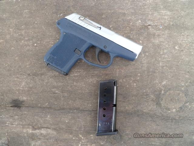 Kel Tec P3AT 380 acp Chrome Navy Blue  w/reliability work, Xtra mag, holster  Guns > Pistols > Kel-Tec Pistols > Pocket Pistol Type