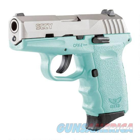 "SCCY CPX-2 9mm 3.1"" Barrel 10 Rounds Blue/Stainless Steel  Guns > Pistols > SCCY Pistols > CPX2"