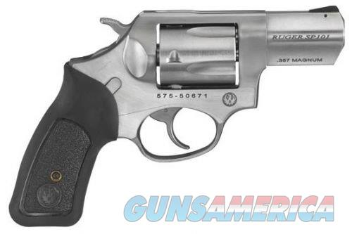 "Ruger SP101X 357MAG 2.25"" BLK GRIP INSERT  Guns > Pistols > Ruger Double Action Revolver > SP101 Type"