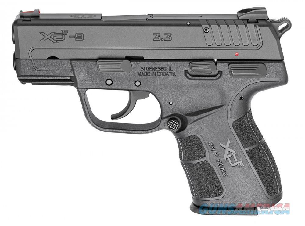 "Springfield XDE 9MM 3.3"" BLK 8 & 9RD  Guns > Pistols > Springfield Armory Pistols > XD-E"