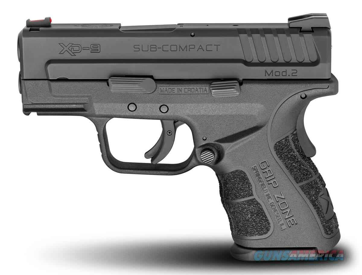 Springfield Armory XD Mod 2 SUB-COMPACT 9mm Black 16rd  Guns > Pistols > Springfield Armory Pistols > XD (eXtreme Duty)