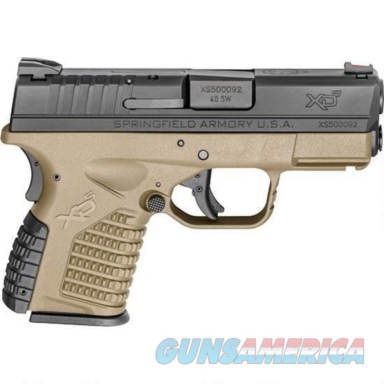 Springfield Armory XD-S Essential 40sw 3.3in 6rd FDE  Guns > Pistols > Springfield Armory Pistols > XD-S