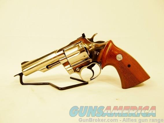 "Colt Trooper MK III MFG. 1975 4"" NICKEL 357 MAGNUM  Guns > Pistols > Colt Percussion Revolver - Modern"