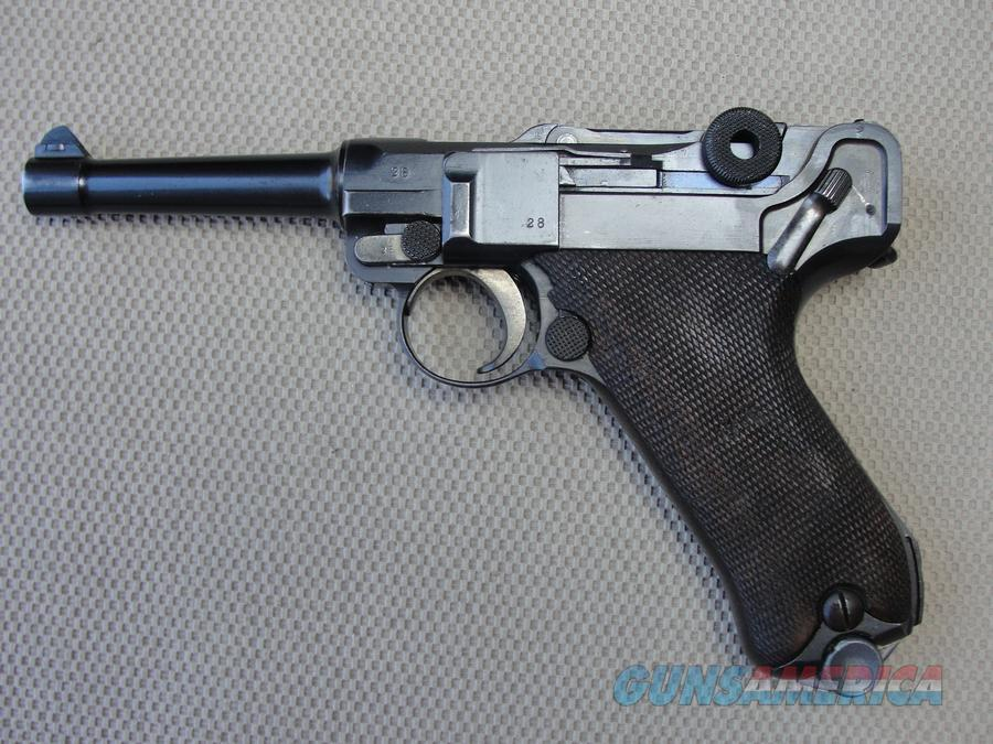 Luger 1914/1920 DWM 9mm Low SN 28, matching and Mag  Guns > Pistols > Luger Pistols