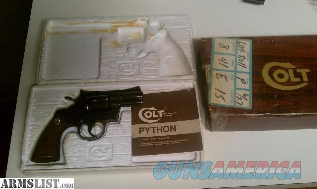 "WTS Colt Python 2.5"" Blued Excellent Condition  Guns > Pistols > Colt Double Action Revolvers- Modern"