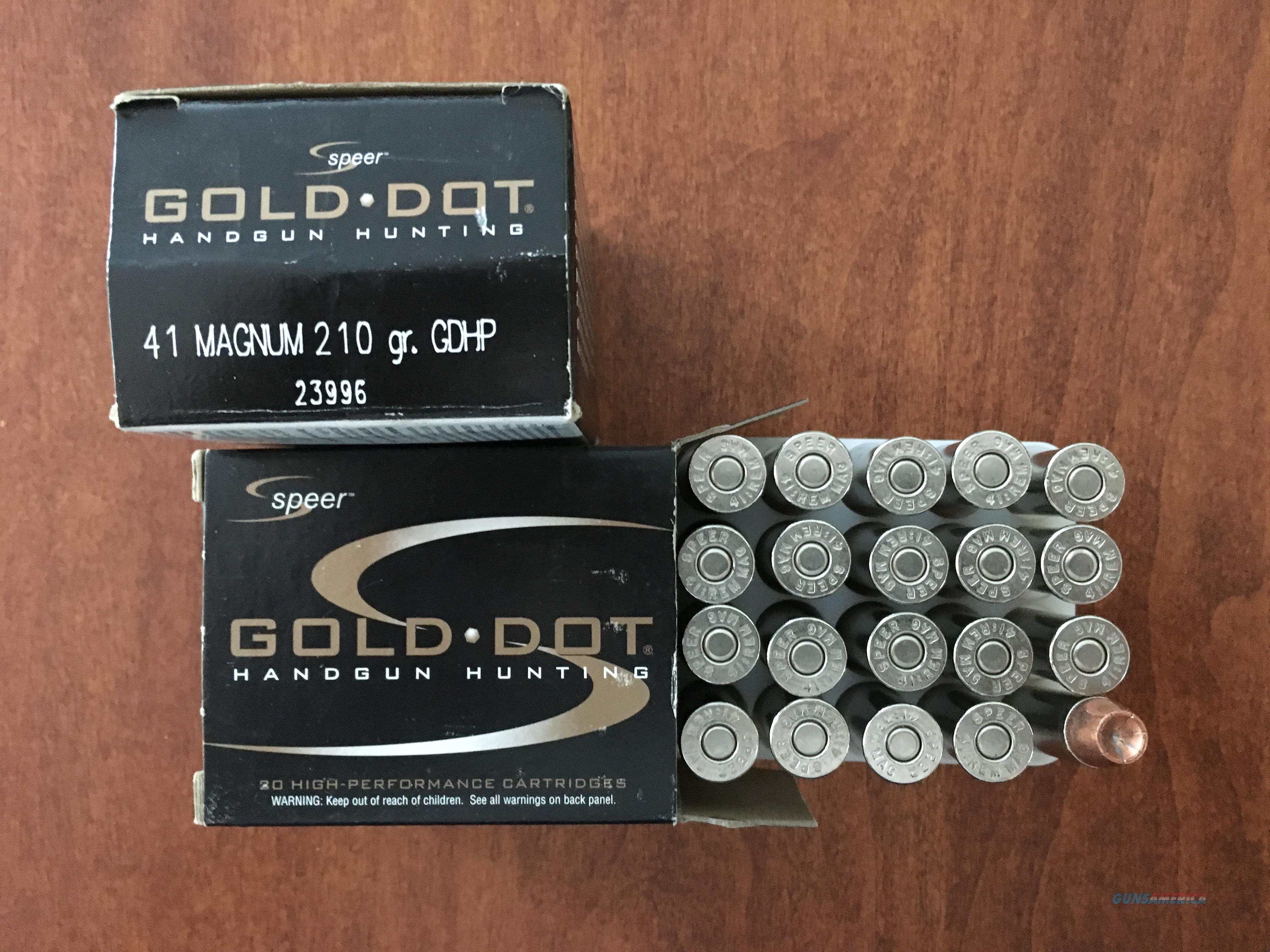 41 Magnum Speer Gold Dot  Non-Guns > Ammunition