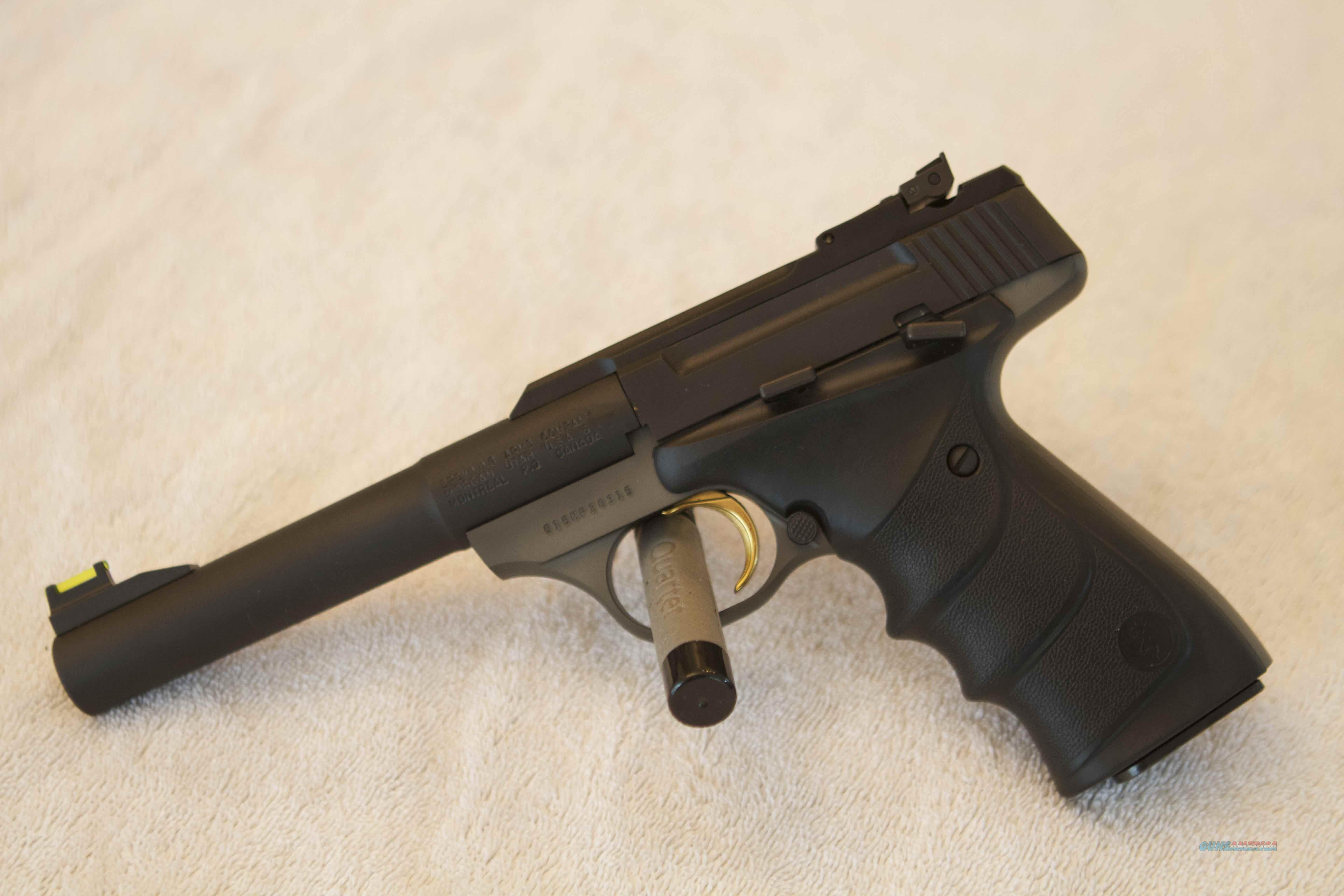 "Browning Buck Mark Practical URX F/O NS MS Ultra grip RX Pro TGT 5 1/2"" Camper.  Guns > Pistols > Browning Pistols > Buckmark"