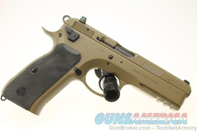 CZ SP-01 Tactical 9mm 91263 LTD ED FDE Tritium NS  Guns > Pistols > CZ Pistols
