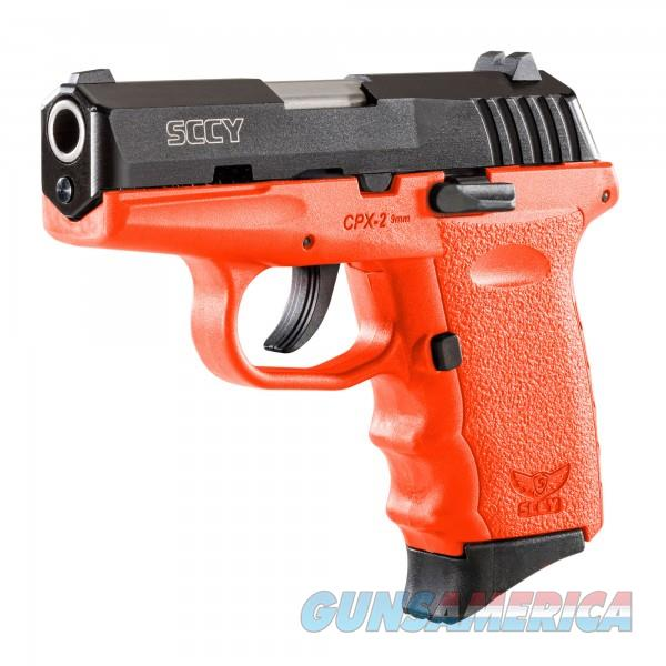 SCCY CPX-2 CBOR Black / Orange 9MM NEW  Guns > Pistols > SCCY Pistols > CPX2