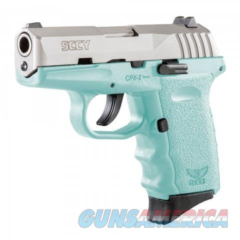 SCCY CPX-2 TTSB Blue / Stainless 9MM NEW  Guns > Pistols > SCCY Pistols > CPX2