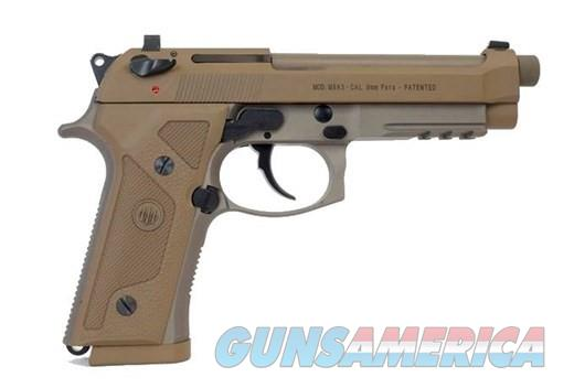 Beretta M9 FDE Threaded 9MM 3mgs Case JS92M9A3M  Guns > Pistols > Beretta Pistols > M9