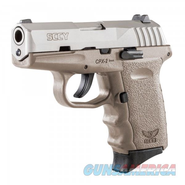 SCCY CPX-2 TTDE FDE / Stainless 9MM NEW  Guns > Pistols > SCCY Pistols > CPX2