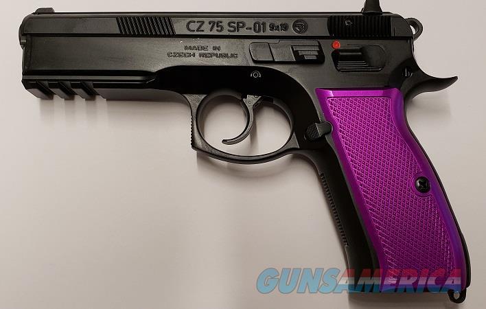 CZ-USA SP-01 9MM 91134 Purple Factory Aluminum Grips EZ PAY $71  Guns > Pistols > CZ Pistols