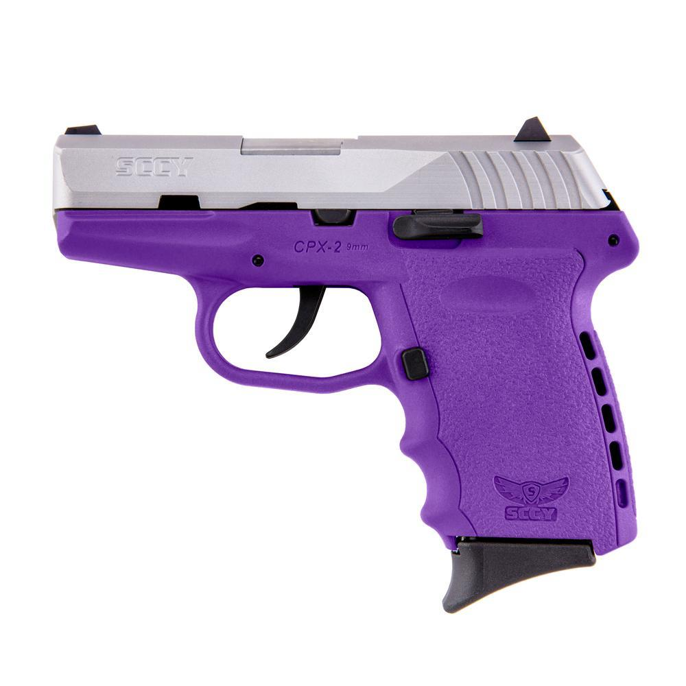 SCCY CPX-2 CPX2 TT PU 9MM Purple/SS FREE HOLSTER    CPX2