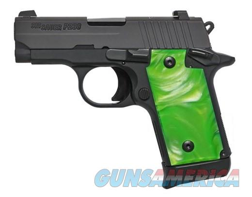 Sig P238 Black/Green Pearl .380ACP 238-380-GNB NEW + Black Grips  Guns > Pistols > Sig - Sauer/Sigarms Pistols > P238
