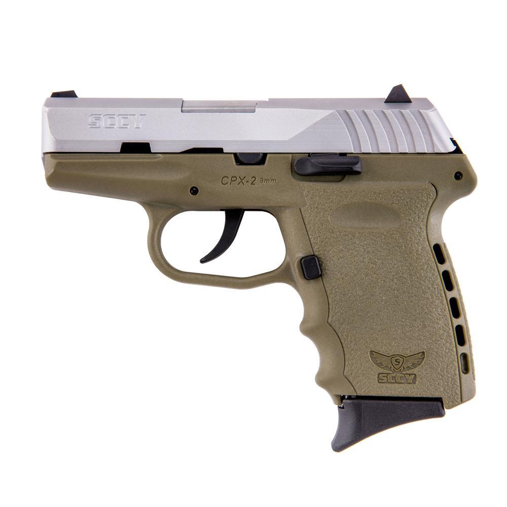 SCCY CPX-2 CPX2 TT DE 9MM FDE/SS FREE HOLSTER    CPX2
