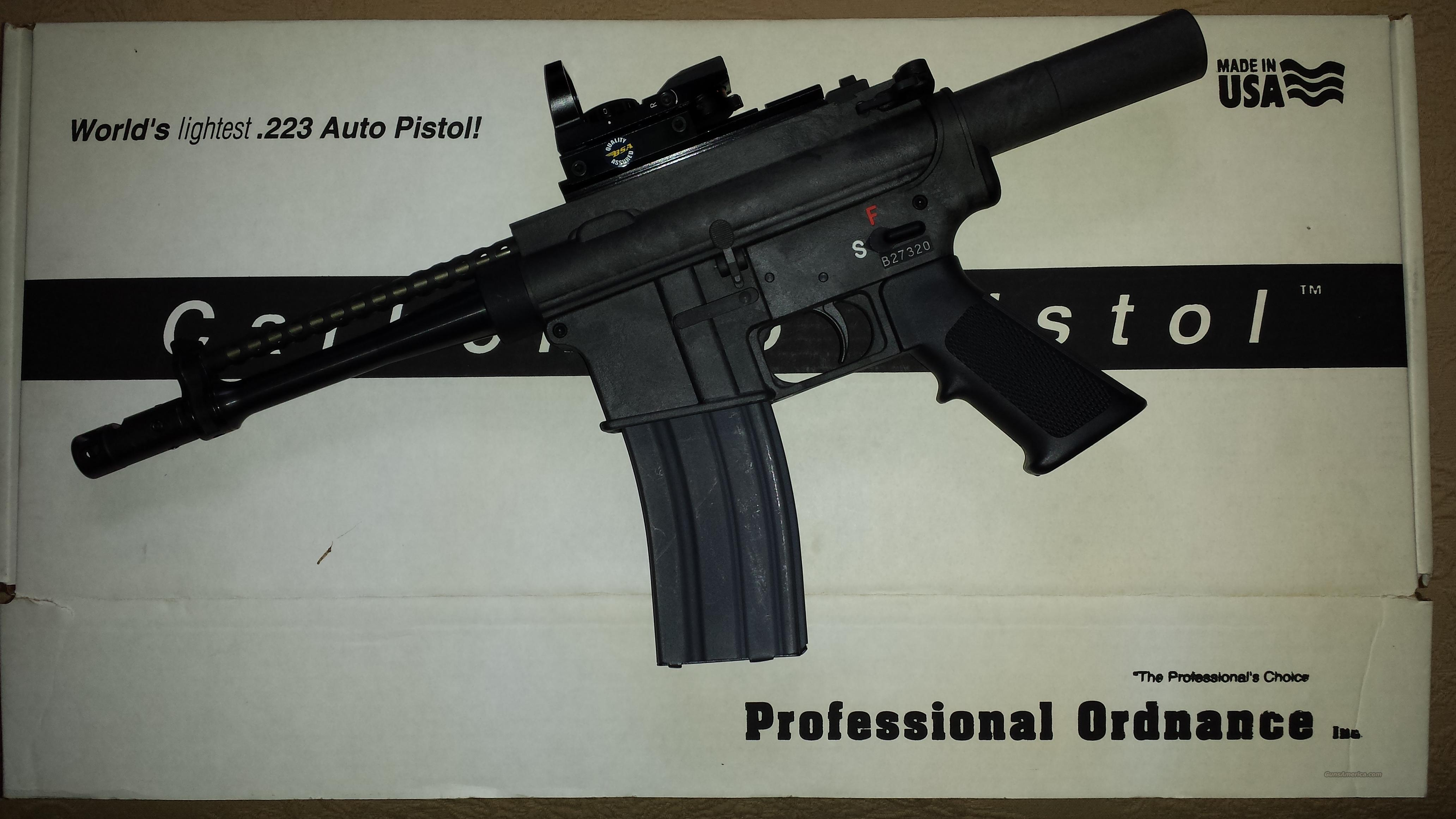 Professional Ordnance Carbon 15 Pistol with Holographic Sight  Guns > Pistols > Tactical Pistols Misc.
