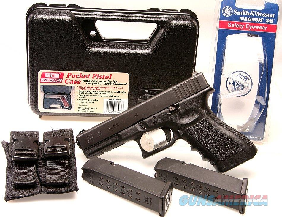 Glock Austrian 22 Gen 3, Like New With Case, 2 factory Mags with pouches, & glasses - Like New  Guns > Pistols > Glock Pistols > 22