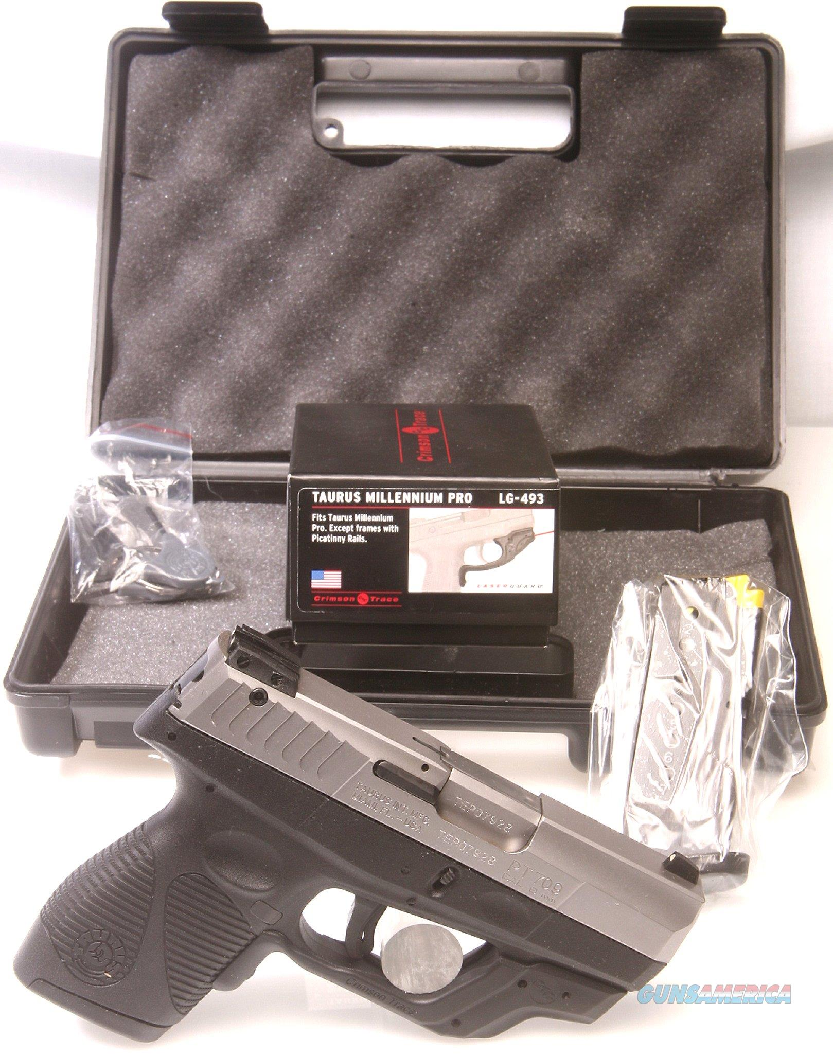 Taurus 9mm PT709 Compact Semi-Auto with Crimson Trace Laser  Guns > Pistols > Taurus Pistols > Semi Auto Pistols > Polymer Frame