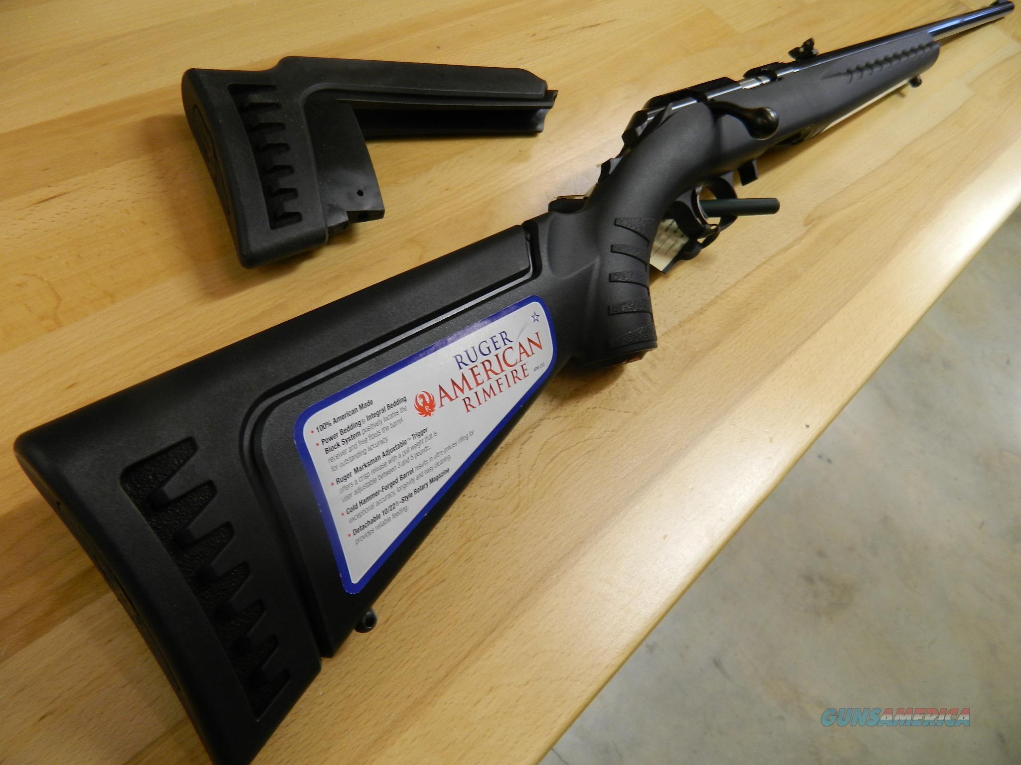 Ruger American .22 WMR NIB 22 inch barrel  Guns > Rifles > Ruger Rifles > American Rifle