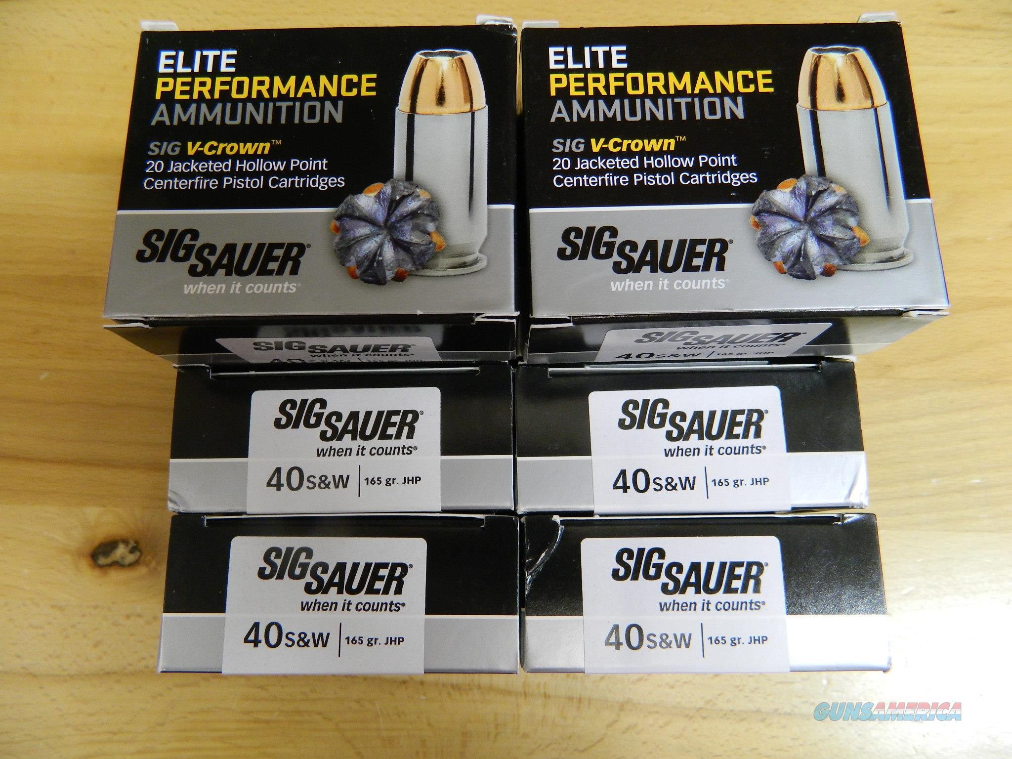 Sig Sauer V-Crown JHP 165 gr, 100 rounds  Non-Guns > Ammunition
