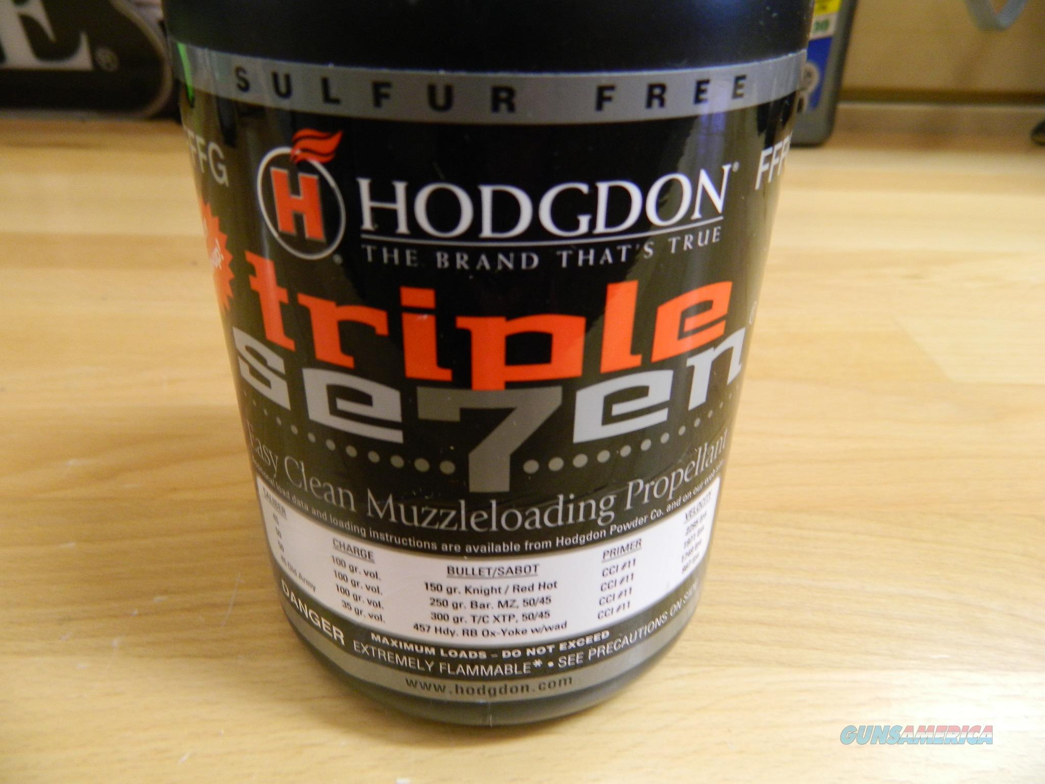 Hodgdon Triple Seven FFFG Muzzleloading propellent  Non-Guns > Black Powder Muzzleloading