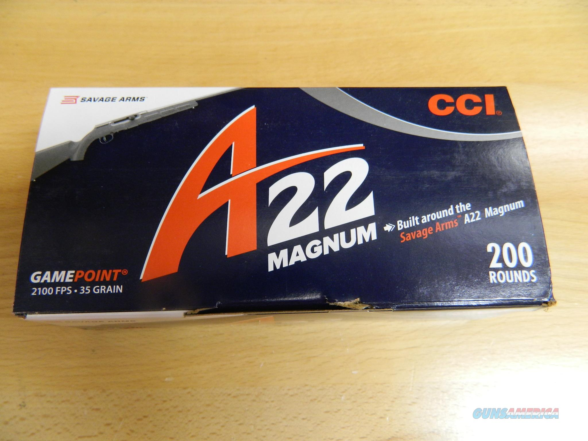 CCI A22 Magnum Gamepoint 35gr 2100FPS 200rds  Non-Guns > Ammunition