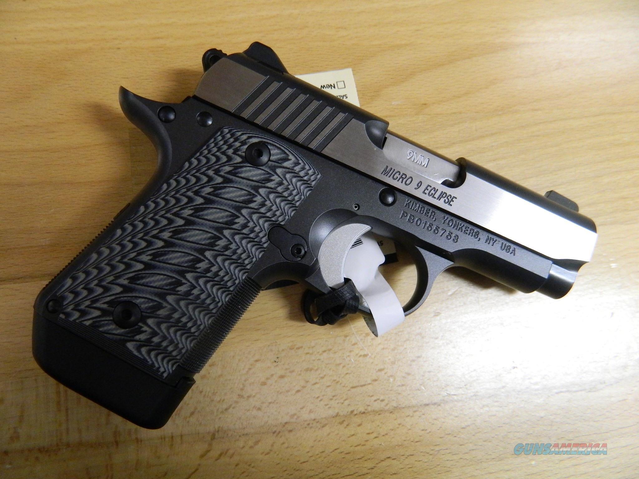 Kimber Micro9 Eclipse 9MM NIB  Guns > Pistols > Kimber of America Pistols > Micro 9