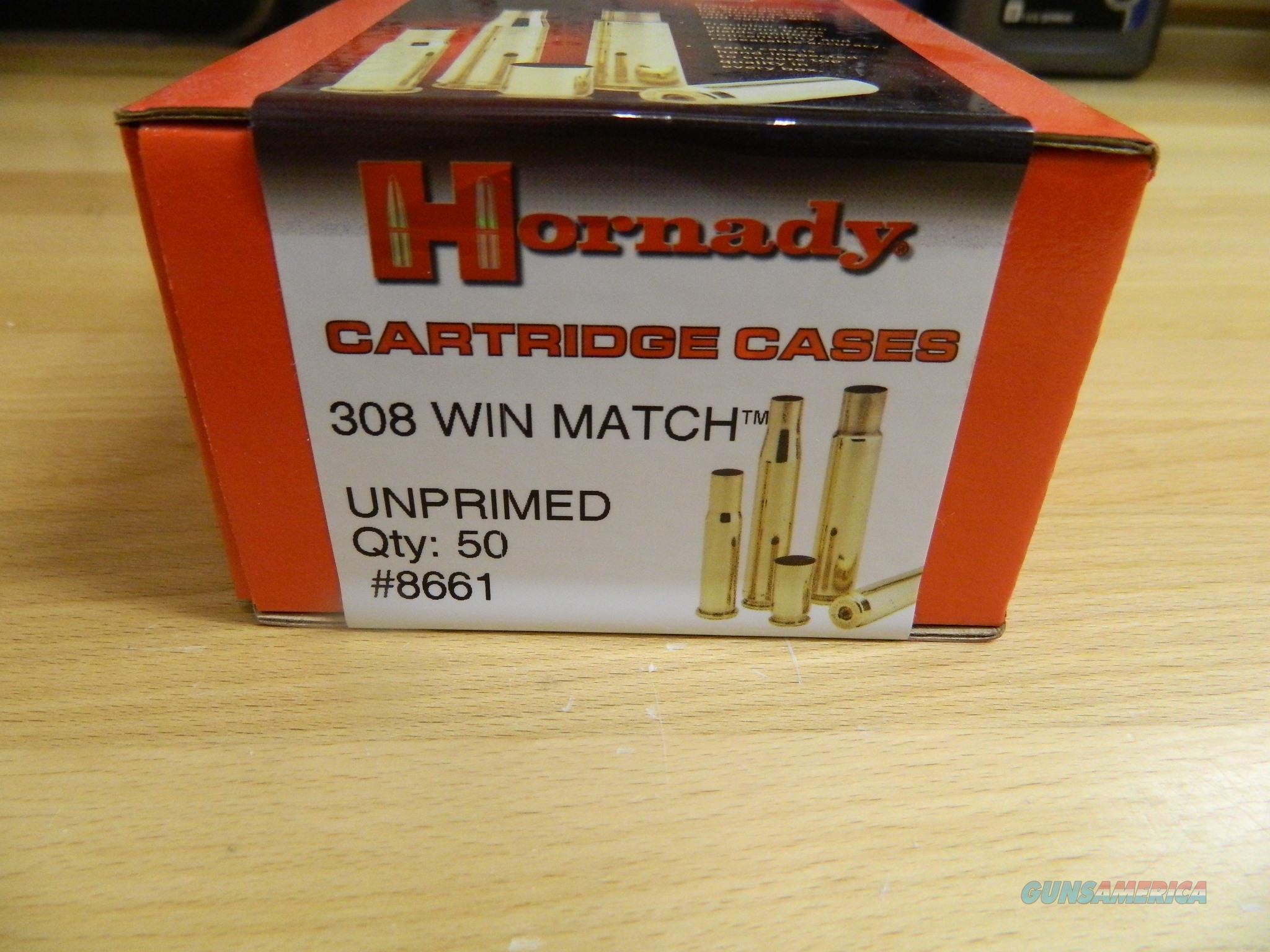 Hornady 308 WIN Match cases Unprimed X50  Non-Guns > Reloading > Components > Brass