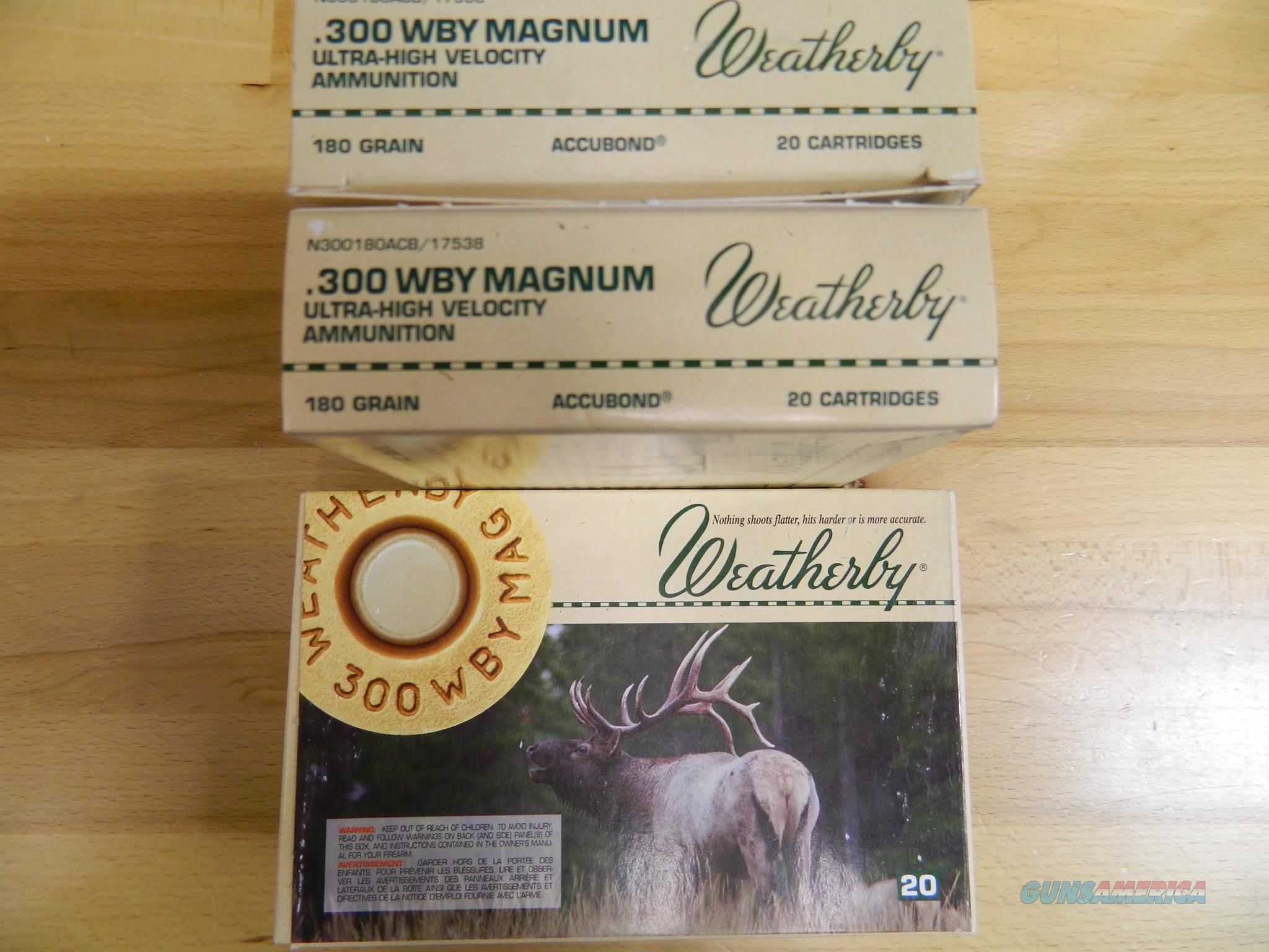 Weatherby .300 WBY Magnum 180Gr  4X20=80 rounds  Non-Guns > Ammunition