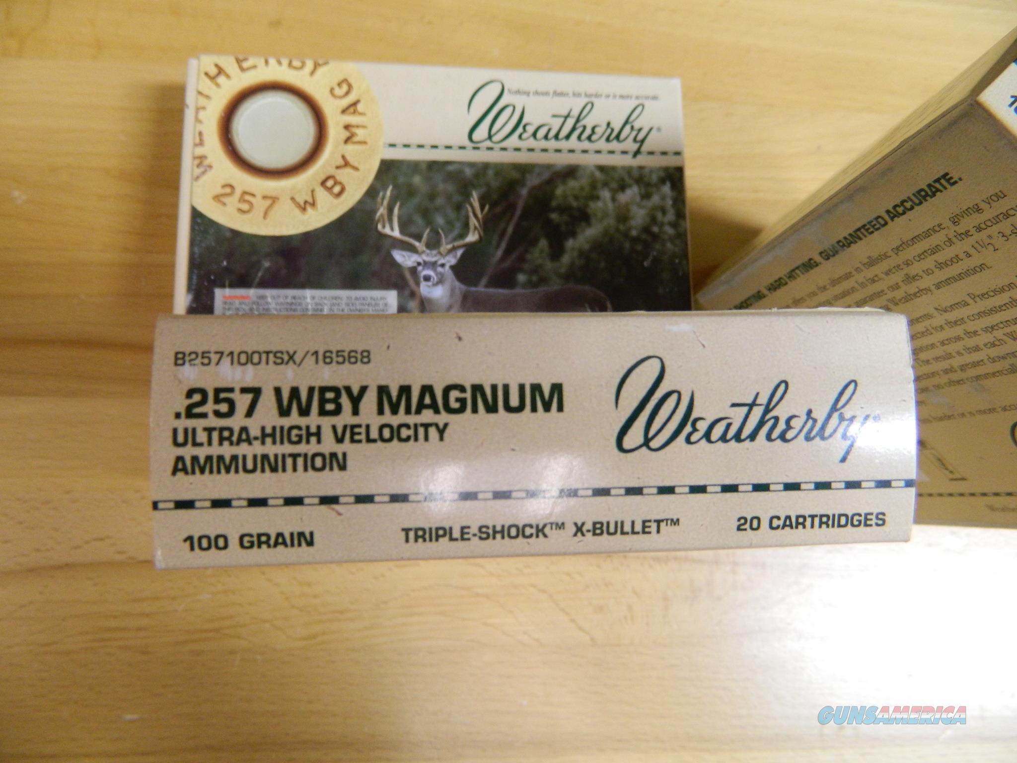Weatherby .257 WBY Magnum 100 Gr  2X20=40 rounds  Non-Guns > Ammunition