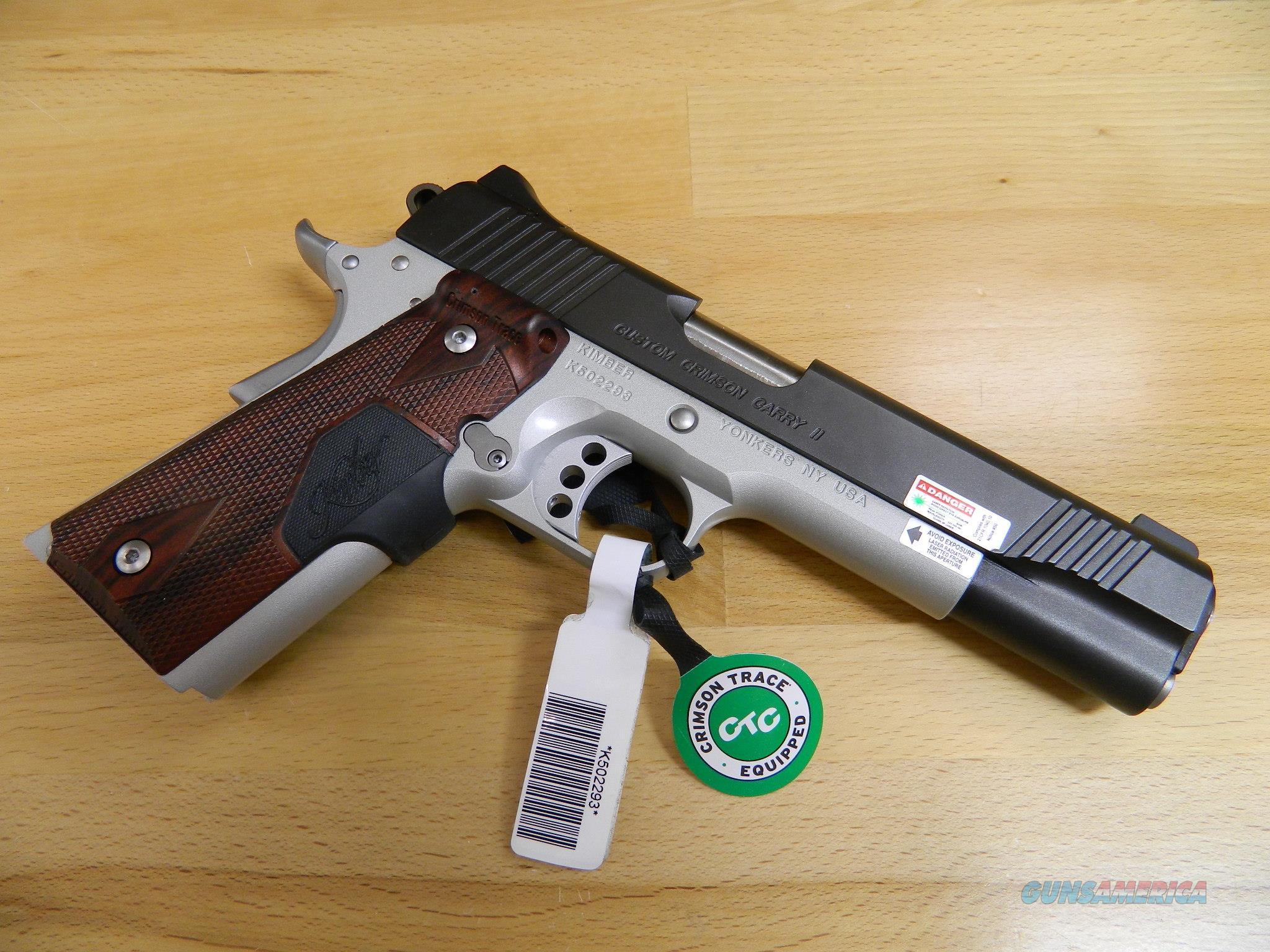 Kimber Custom Crimson Carry II w/ Green Laser NIB  Guns > Pistols > Kimber of America Pistols > 1911