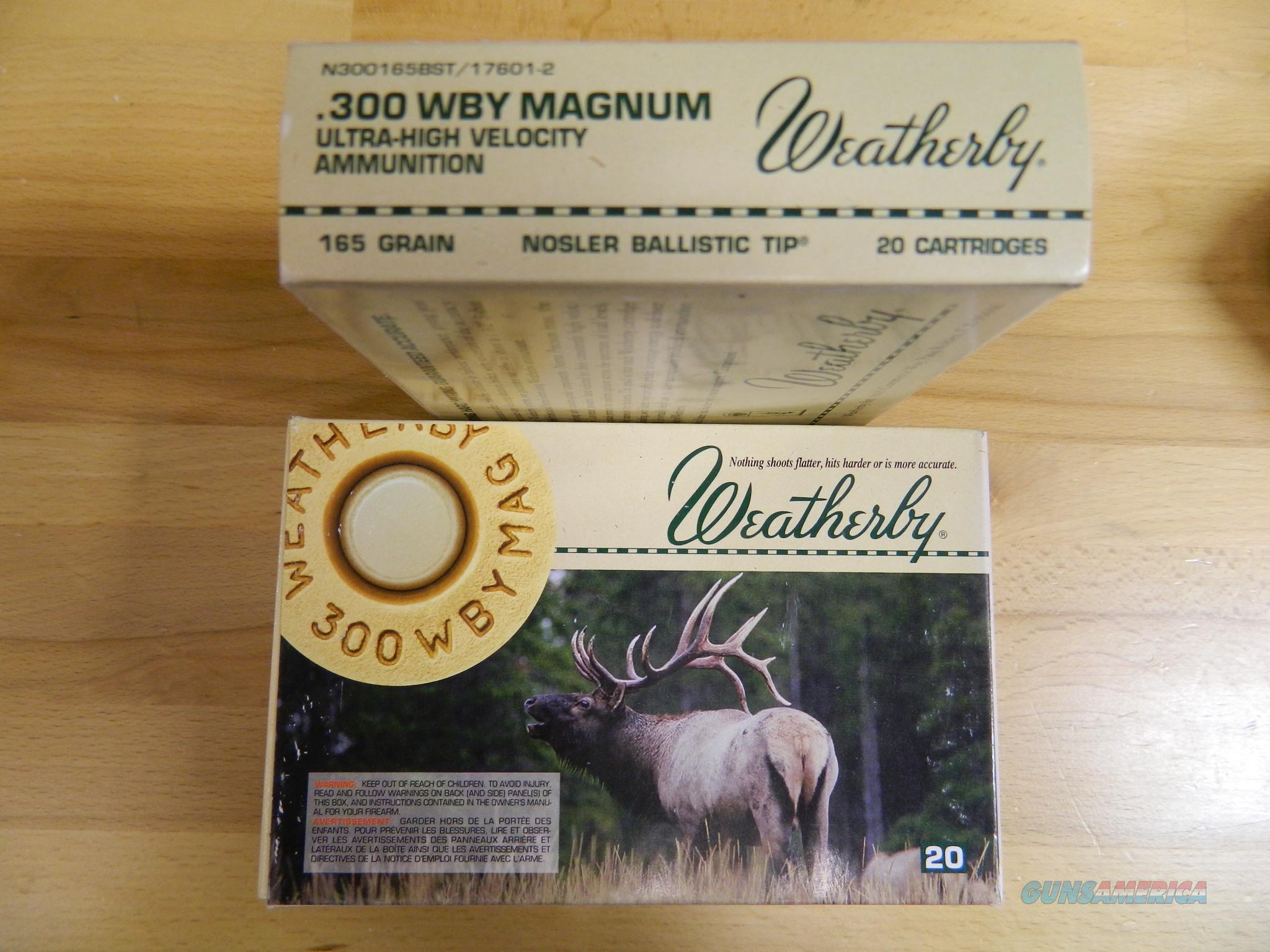 Weatherby .300 WBY Magnum 165Gr  3X20=60 rounds  Non-Guns > Ammunition