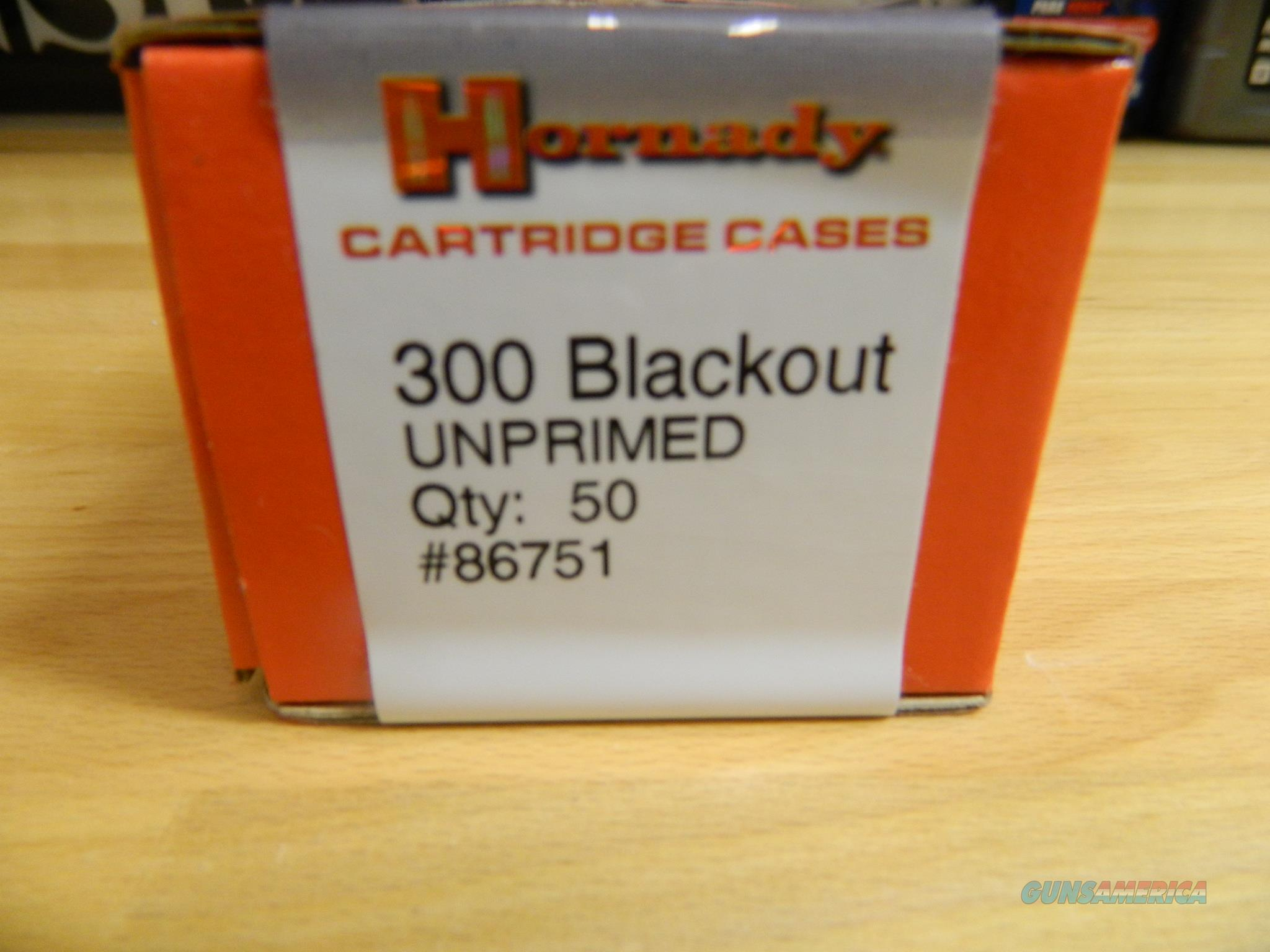 Hornady 300 Blackout cases Unprimed X50  Non-Guns > Reloading > Components > Brass
