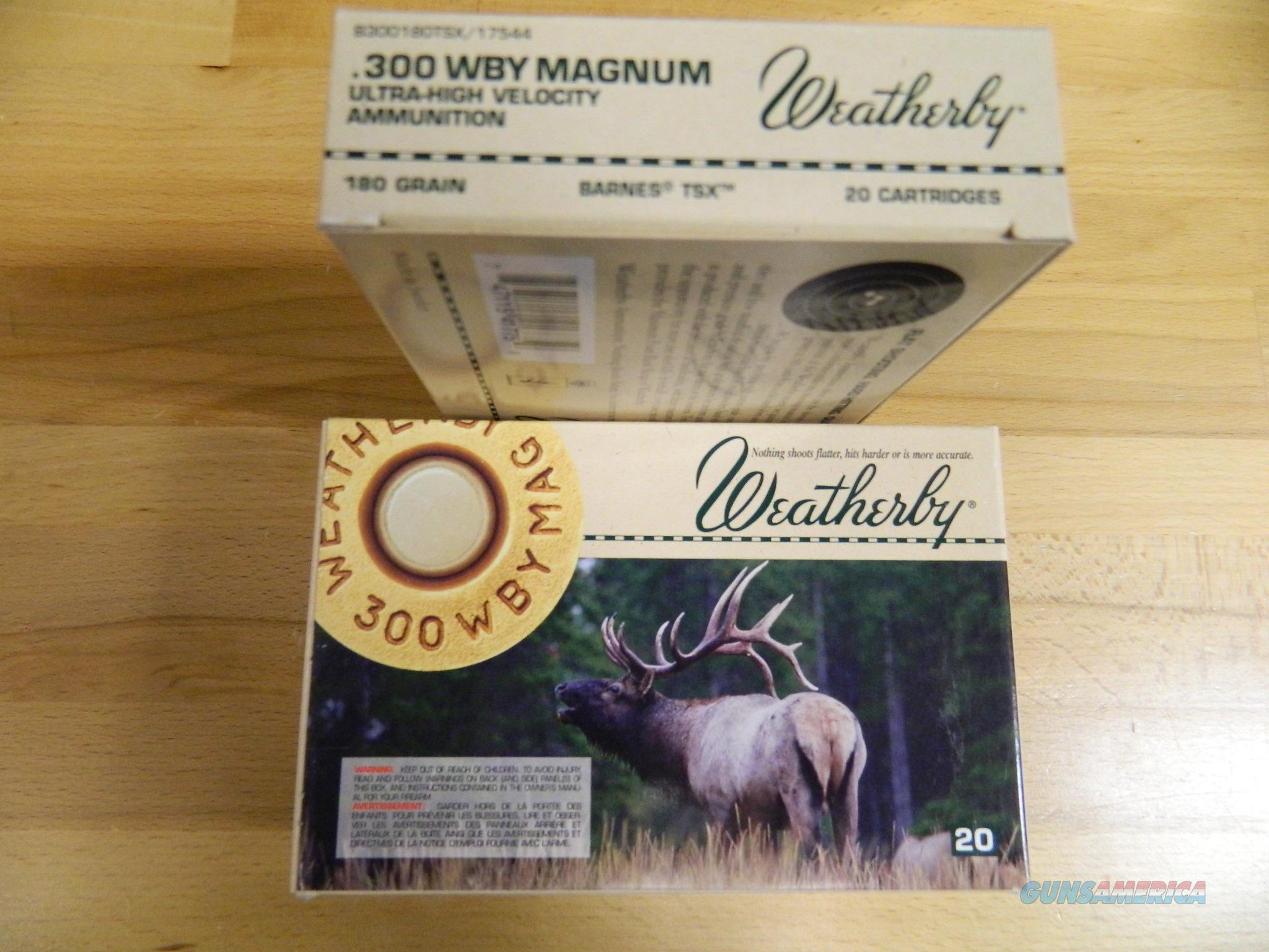 Weatherby .300 WBY Magnum 180Gr  3X20=60 rounds  Non-Guns > Ammunition