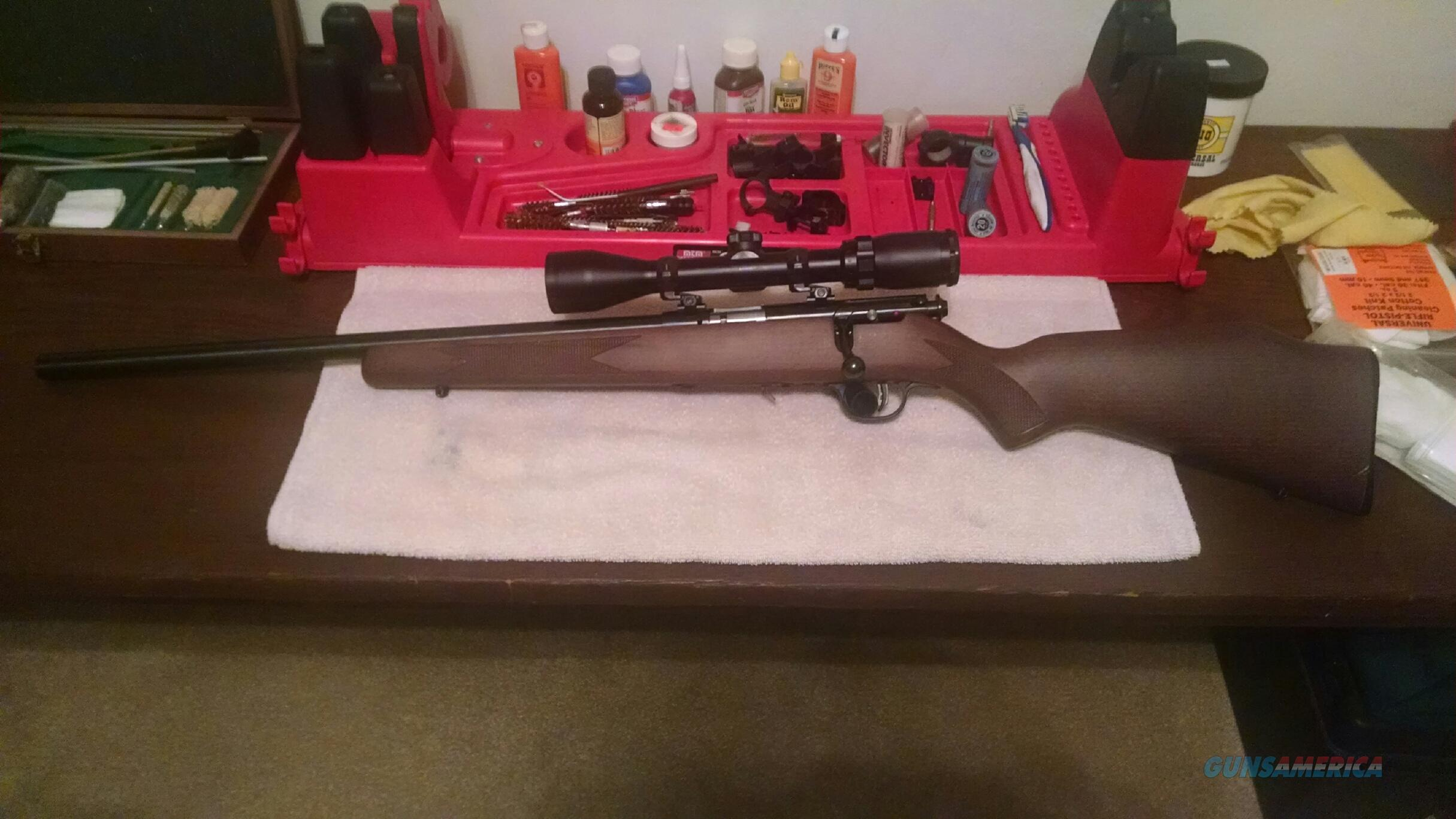 NEVER FIRED SAVAGE 17 HMR WITH SCOPE  Guns > Rifles > Savage Rifles > Accutrigger Models > Sporting