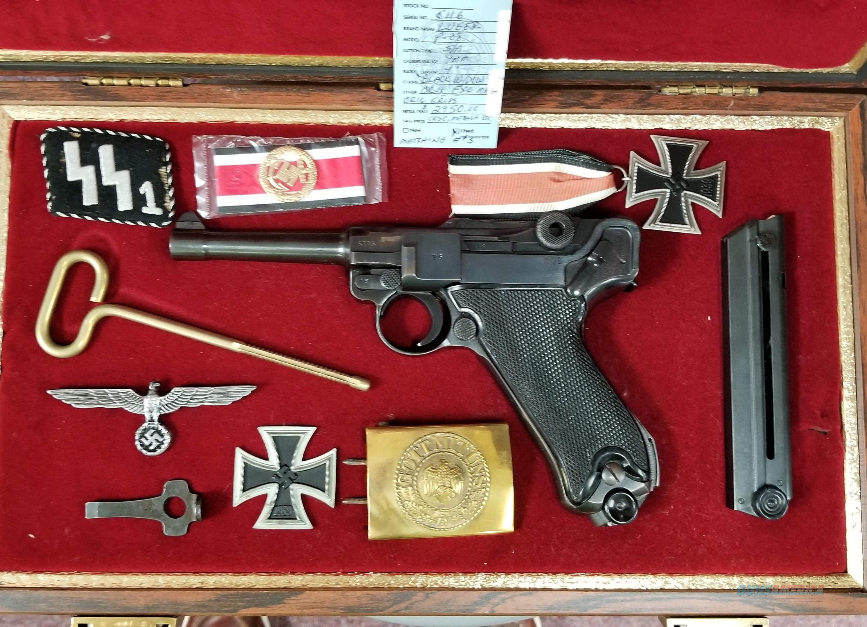 "Beautiful Luger P-08 'black widow""  Guns > Pistols > Luger Pistols"