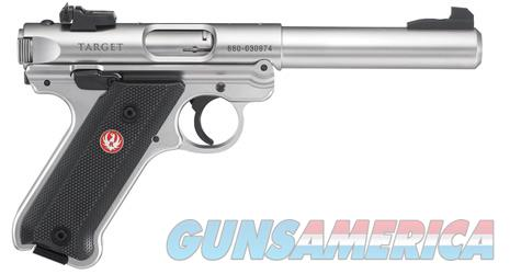 Ruger Mark IV Target .22Lr 5.5in Stainless  Guns > Pistols > Ruger Semi-Auto Pistols > Mark I/II/III/IV Family