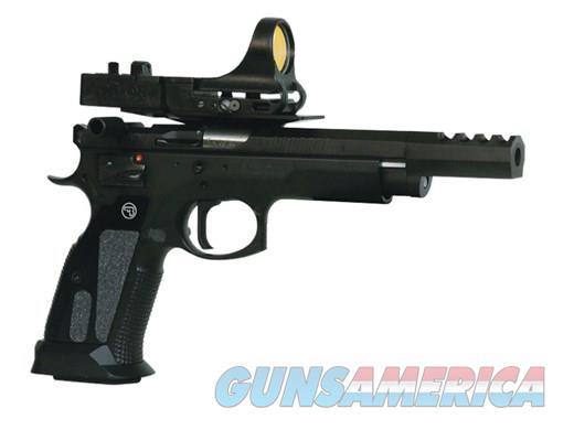 CZ 75 TS Czechmate 9mm 5.23in 26rd Black C-More Red Dot  Guns > Pistols > CZ Pistols
