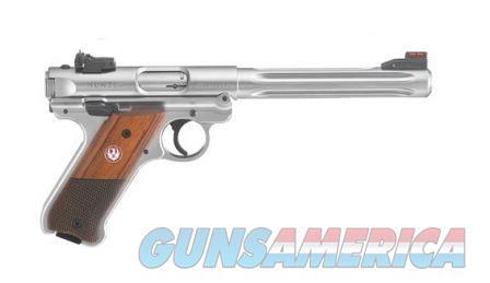 Ruger Mark IV Hunter .22Lr 6.88in Fluted Bull Barrel SS  Guns > Pistols > Ruger Semi-Auto Pistols > Mark I/II/III/IV Family