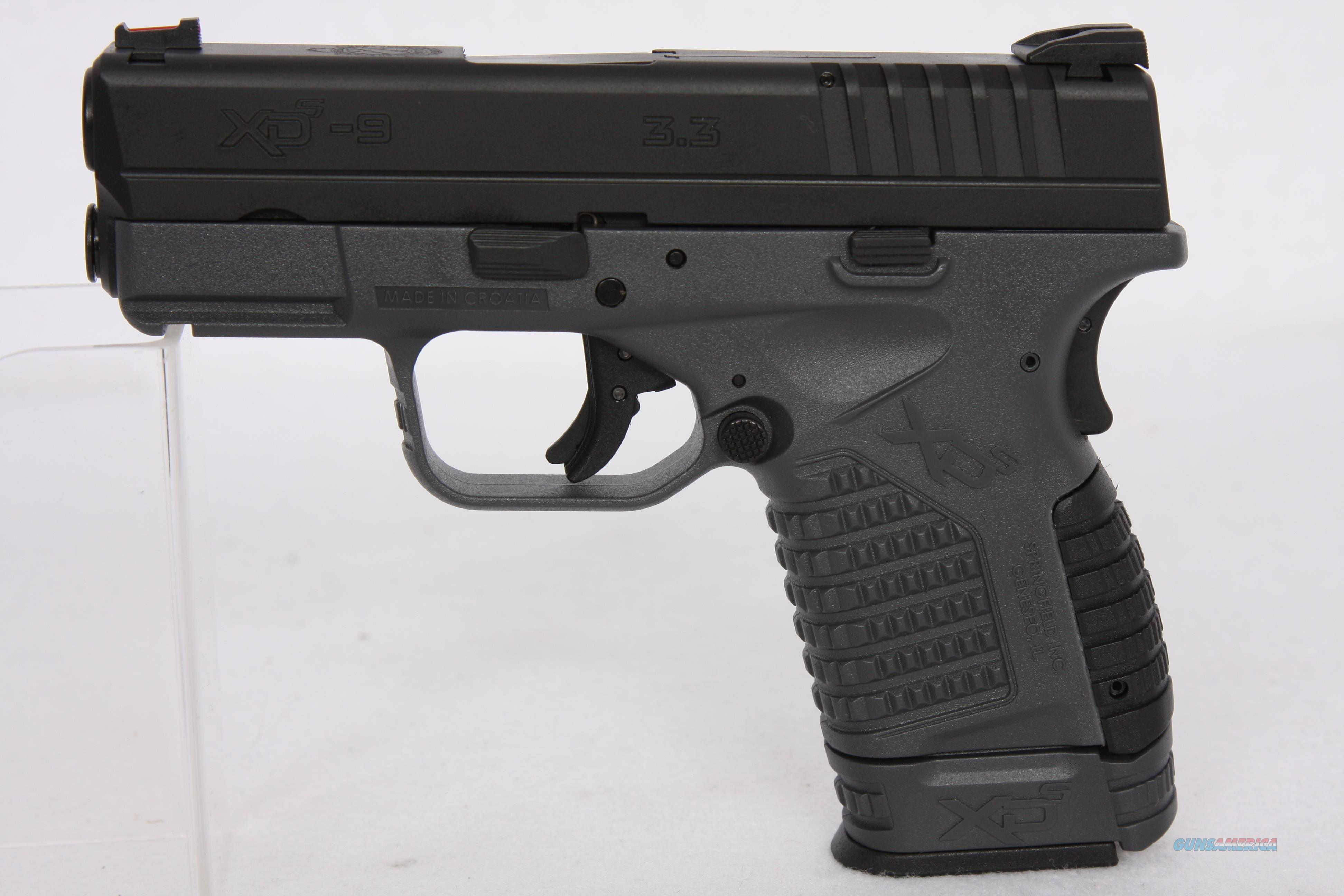 Springfield XD-S 9mm 3.3in Grey  Guns > Pistols > Springfield Armory Pistols > XD-S